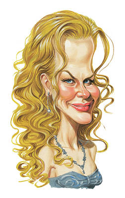 Comics Royalty-Free and Rights-Managed Images - Nicole Kidman by Art