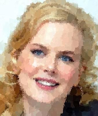 Painting - Nicole Kidman Portrait by Samuel Majcen