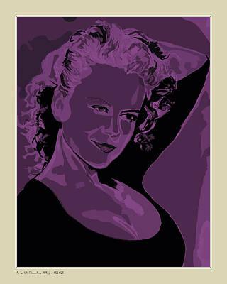 Nicole Art Print by Pedro L Gili