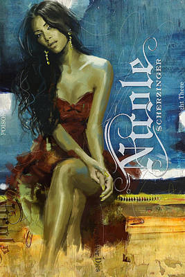 Painting - Nicole Scherzinger by Corporate Art Task Force