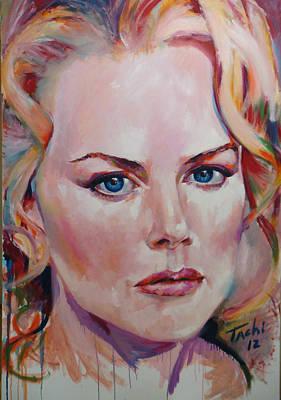 Nicole Art Print by Tachi Pintor