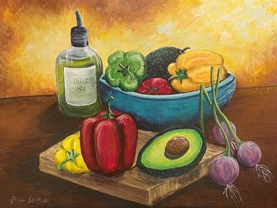 Cutting Board Painting - Nicole's Kitchen by Lissa Spurlock