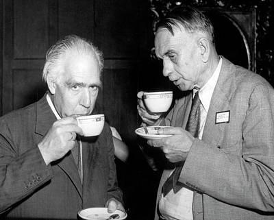 Niels Bohr And Richard Tolman Art Print
