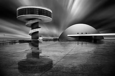 Asturias Photograph - Niemeyer Center by Martin Zalba