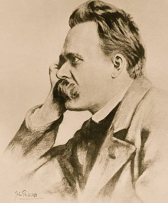 Pose Drawing - Nietzsche by Anonymous