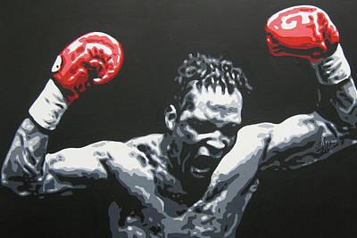 Painting - Nigel Benn 5 by Geo Thomson