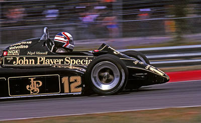 Canadian Grand Prix Photograph - Nigel's Lotus by Mike Flynn