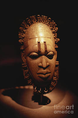 Hand Carved Photograph - Nigerian Ivory Mask by Bedrich Grunzweig