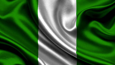Flag Photograph - Nigeriya Flag by VRL Art