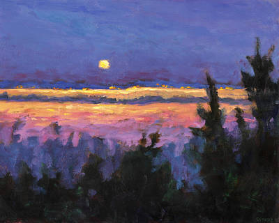 Night Across The Bay Art Print by Vernon Reinike
