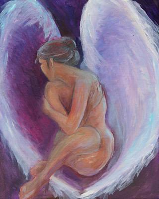 Night Angel Art Print by Gwen Carroll