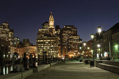 Photograph - Night At Boston Harbor by Jatinkumar Thakkar
