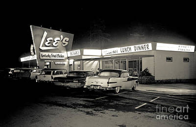 Photograph - Night At Lee's Steak House by Merle Junk
