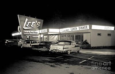 Night At Lee's Steak House Art Print by Merle Junk