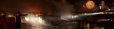 Photograph - Night At Niagara Falls by Richard Engelbrecht