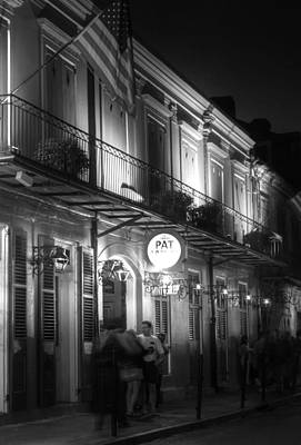 White Photograph - Night At Pat O'brien's by Greg and Chrystal Mimbs