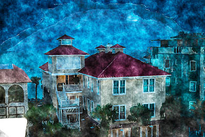 Mixed Media - Night At The Beach by J Riley Johnson