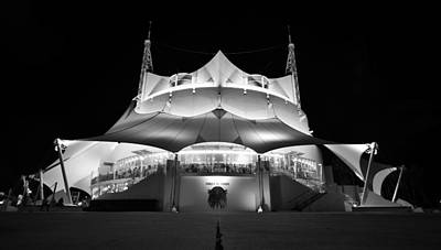 Photograph - Night At The Circus Panobw by David Lee Thompson
