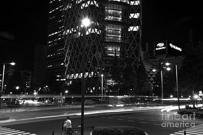 Photograph - Night At The Cocoon Building by David Bearden