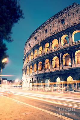 Night At The Colosseum II Art Print