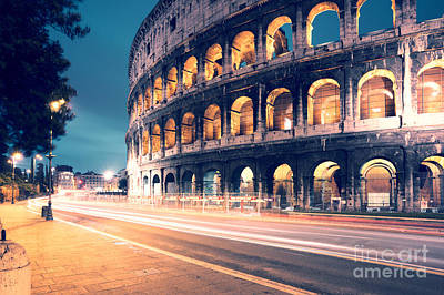 Night At The Colosseum Art Print
