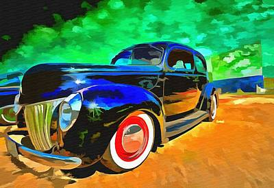 Night At The Drive In Print by L Wright