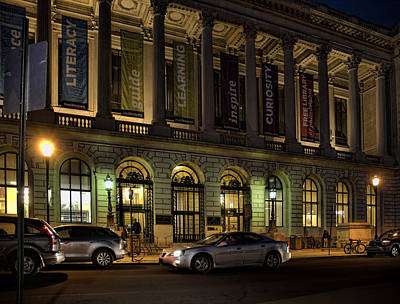 Photograph - Night At The Library by Robert Culver