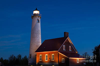 Night At The Lighthouse Art Print by Patrick Shupert