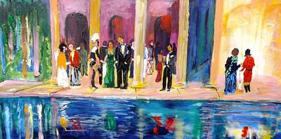 Painting - Night At Theatre by Mounir Mounir