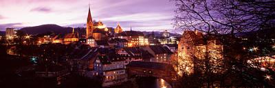Night, Baden, Switzerland Art Print by Panoramic Images