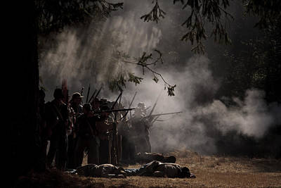 Photograph - Night Battle by Wes and Dotty Weber