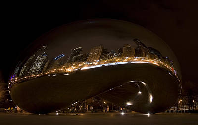 Night Bean Art Print by Margaret Guest