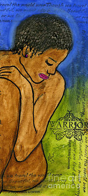 Painting - Night Before My Fight For Life by Angela L Walker