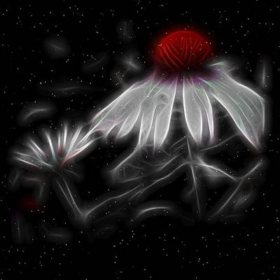 Electric Night Bloom Art Print by Gothicrow Images