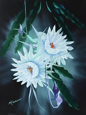 Night Blooming Cereus Painting - Night Blooming Cereus by Marsha Thornton