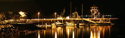 Night Boats Art Print by Melisa Meyers