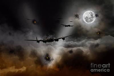 Searching Digital Art - Night Bombers  by J Biggadike