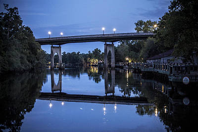 Photograph - Night Bridge by Nelson Watkins