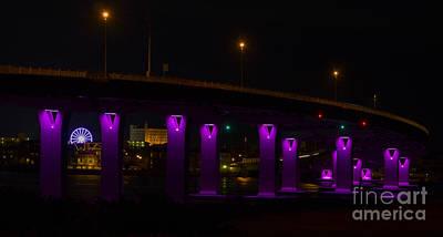 Photograph - Night Bridge by Ursula Lawrence