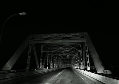 Photograph - Night Bridge by Wild Thing