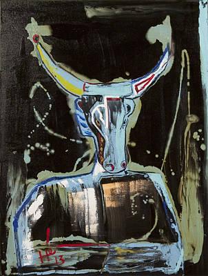 Painting - Night Bull by Hans Magden