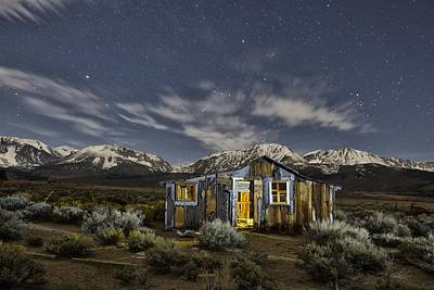 Astro Photograph - Night Cabin by Christian Heeb