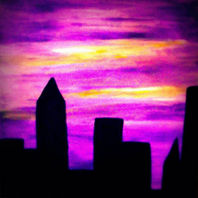 Painting - Night City by Sandy Wager