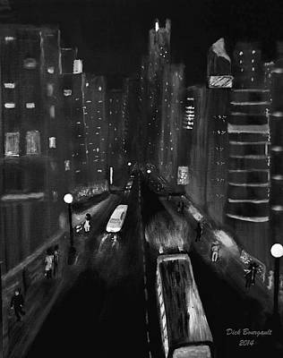Night City Scape Art Print