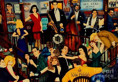 Jazz Painting - All Star Joint by JL Vaden