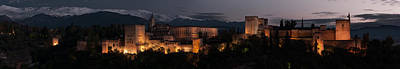 Photograph - Night Comes To The Alhambra by Weston Westmoreland