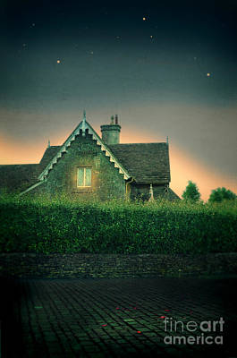 Photograph - Night Cottage by Jill Battaglia