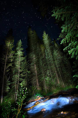 Photograph - Night Creek by Mark Andrew Thomas