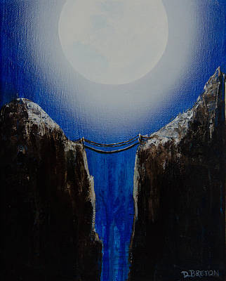 Bhutan Painting - Night Crossing by Deb Breton