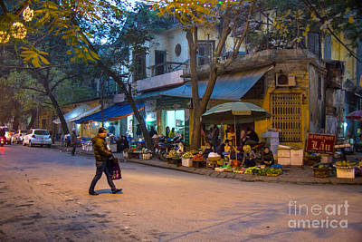Night Crossing Hanoi Art Print by Rick Bragan